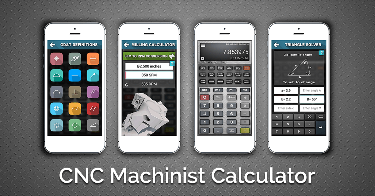 CNC Machinist Calculator available on iTunes & Google Play